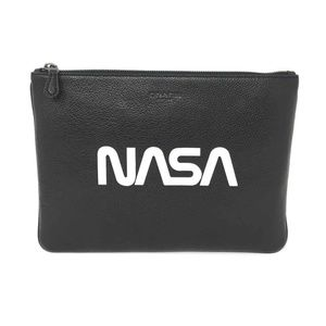 Coach X NASA Men's Large Pouch In NASA Leather Bag